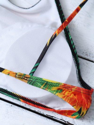 Cami Tropical Print Bikini Set - GREEN S Mobile