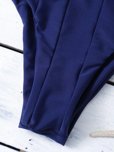 Strappy Cross Criss Bikini Set - PURPLISH BLUE S Mobile