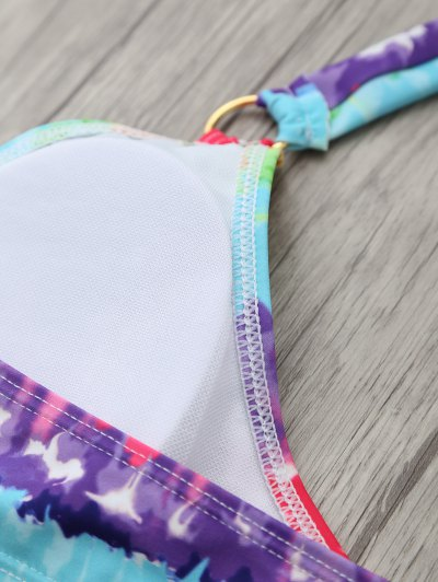 Padded Tie Dyed Wrap Bikini - COLORMIX L Mobile