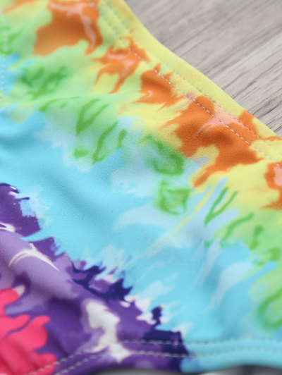 Padded Tie Dyed Wrap Bikini - COLORMIX S Mobile