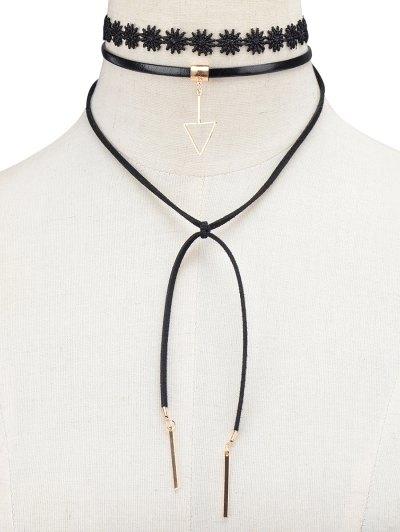Triangle Bar Tie Choker - BLACK  Mobile