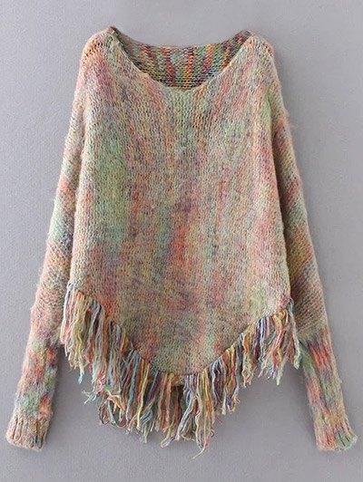 Fringed Oversized Sweater