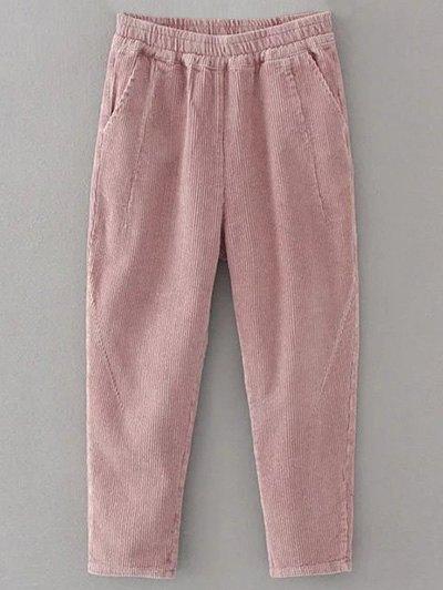Elastic Waist Corduroy Pants