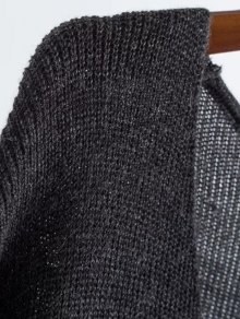 Long Sleeve Knitting Midi Dress - PURPLE ONE SIZE