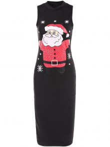 Christmas Santa Clause Midi Bodycon Dress