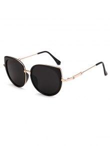 الحافات الكاملة نظارات عين القط - أسود