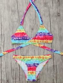 Padded Tie Dyed Wrap Bikini