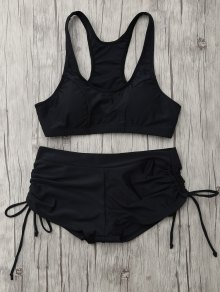 Lace Up Padded Sporty Bikini Set