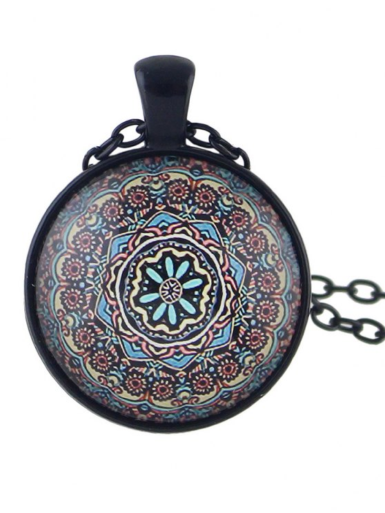 Mandala Pendant Necklace -   Mobile