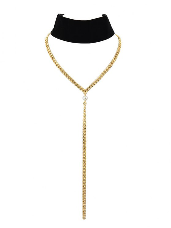 Velvet Layered Choker - BLACK  Mobile