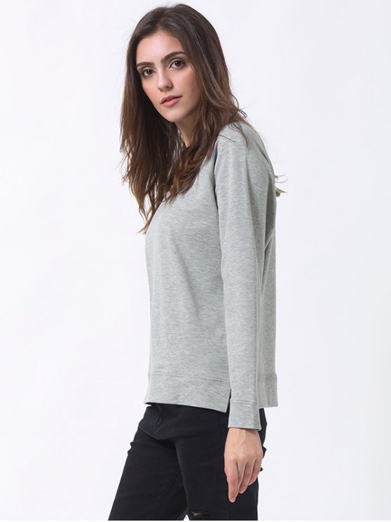 Basic Raglan Sweatshirt - GRAY 2XL Mobile