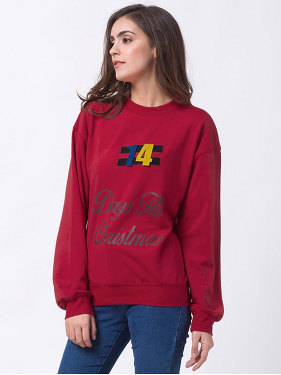 Days Till Christmas Sweatshirt - RED L Mobile