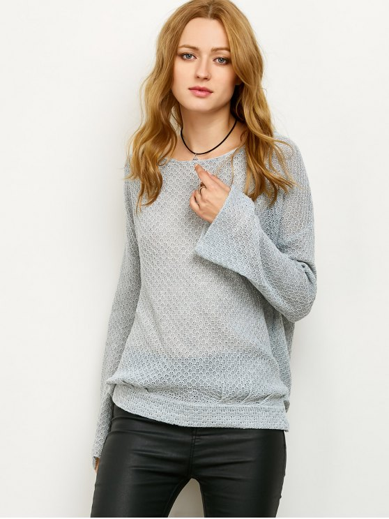 Wrap Cut Out Knitwear - GRAY S Mobile