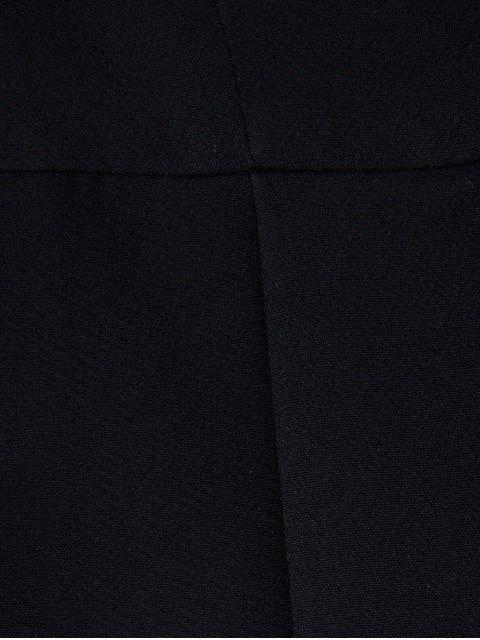 trendy Zip Up Asymmetric Peplum Blazer - BLACK S Mobile