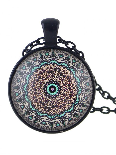 buy Mandala Round Necklace -   Mobile