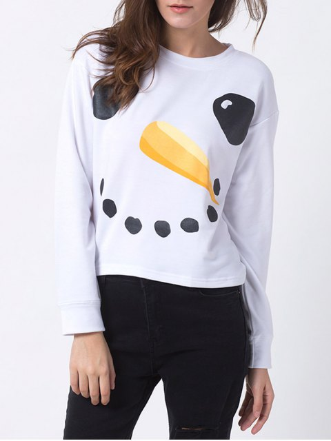 women's Printed Oversized Christmas T-Shirt -   Mobile