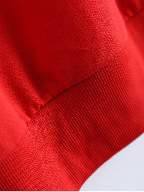 latest Fitting Skull Sweatshirt - RED S Mobile