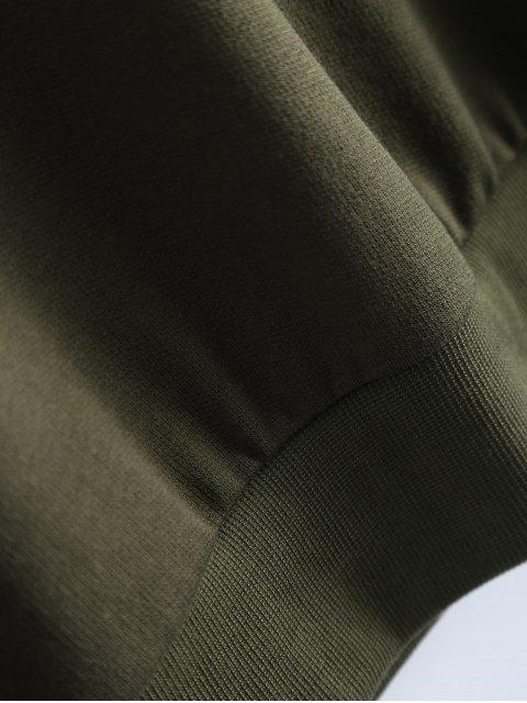 trendy Fitting Skull Sweatshirt - ARMY GREEN XL Mobile
