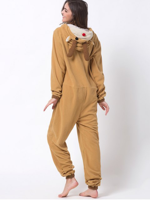 hot Cartoon Costumes Reindeer Pajamas - ORANGE XS Mobile