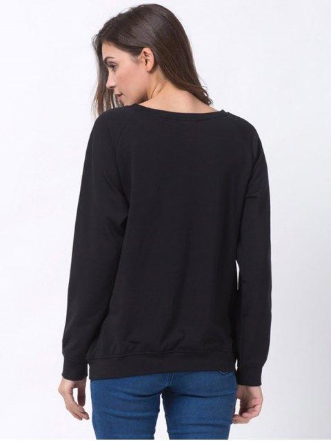 chic Santa Made Me Do It Christmas Sweatshirt - BLACK 2XL Mobile