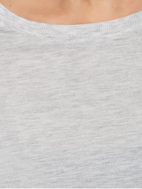 online Boxy Cropped Sweatshirt - GRAY S Mobile
