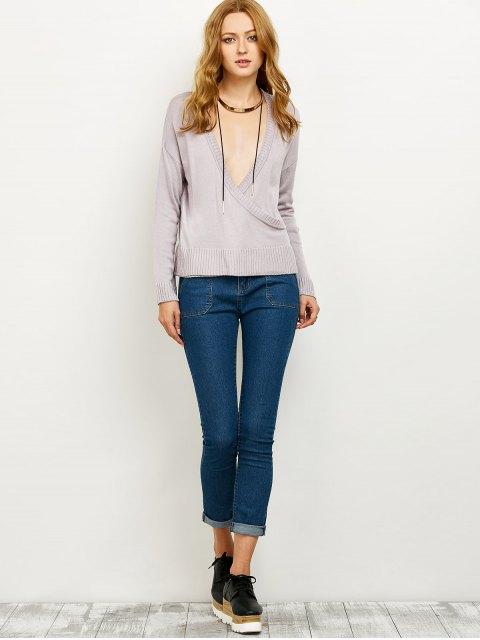 outfit V Neck Surplice Jumper - SMASHING L Mobile