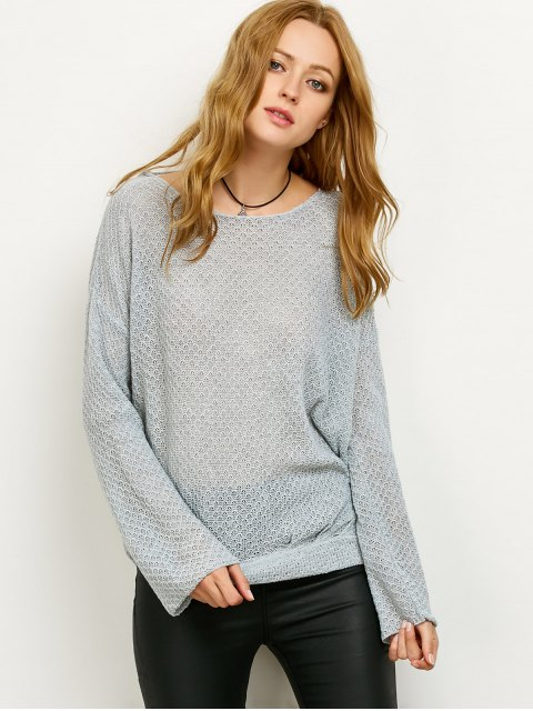 sale Wrap Cut Out Knitwear - GRAY M Mobile