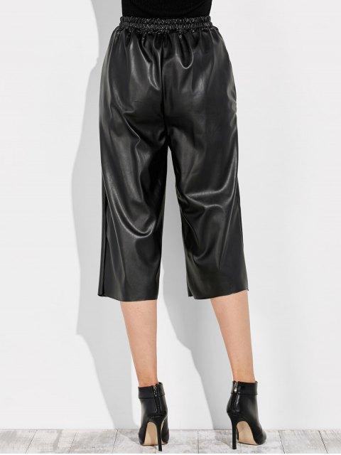 new PU Leather Capri Pants - BLACK ONE SIZE Mobile