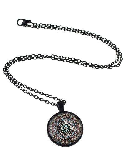 Mandala Pendant Necklace - COFFEE  Mobile