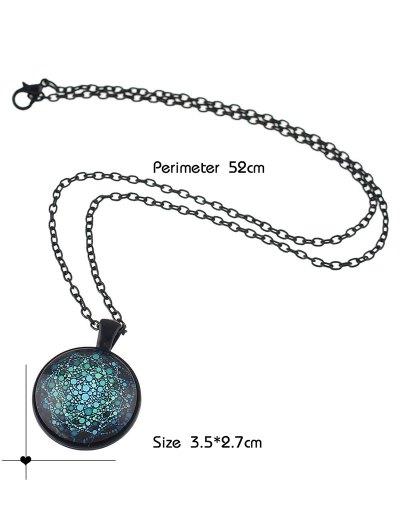 Galaxy Pendant Necklace - BLUE  Mobile