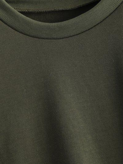 Fitting Skull Sweatshirt - ARMY GREEN M Mobile