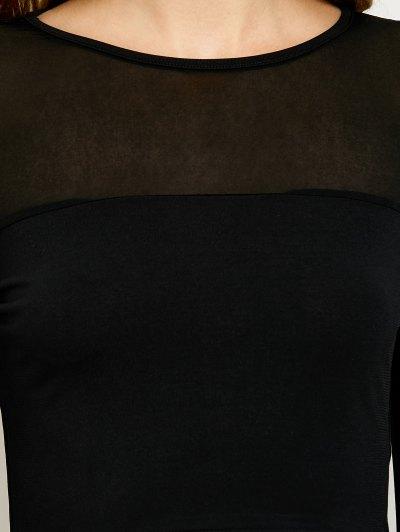 See-Through Short T-Shirt - BLACK L Mobile
