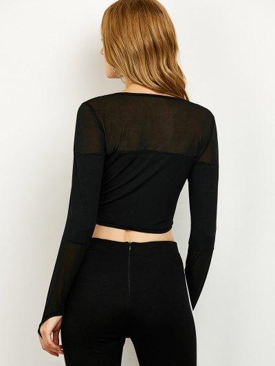 See-Through Short T-Shirt - BLACK M Mobile
