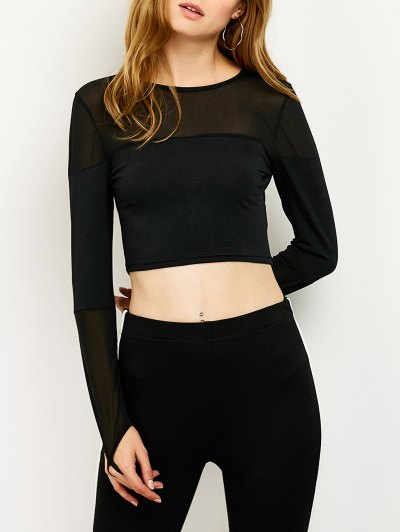 See-Through Short T-Shirt - BLACK S Mobile