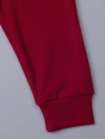 Ginger Print Drop Shoulder Tee - RED XS Mobile