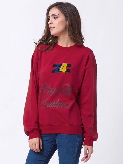 Days Till Christmas Sweatshirt - RED L Mobile