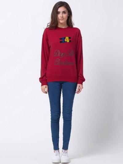 Days Till Christmas Sweatshirt - RED M Mobile