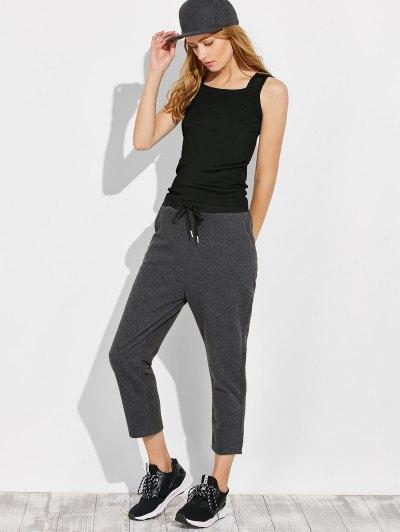 Pockets Drawstring Pants - GRAY M Mobile