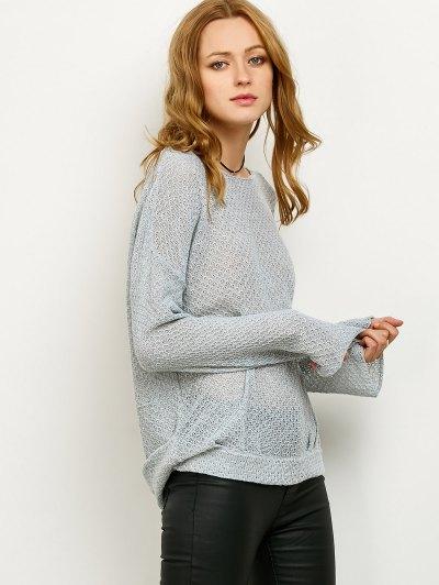 Wrap Cut Out Knitwear - GRAY XL Mobile