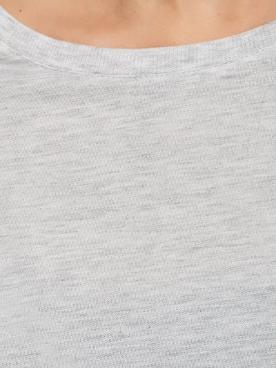 Boxy Cropped Sweatshirt - GRAY XL Mobile