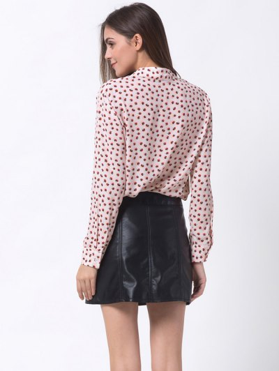 Chiffon Printed Shirt - PINK 2XL Mobile