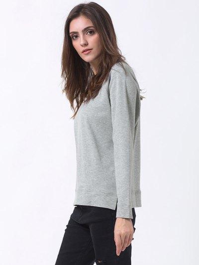 Basic Raglan Sweatshirt - GRAY XL Mobile