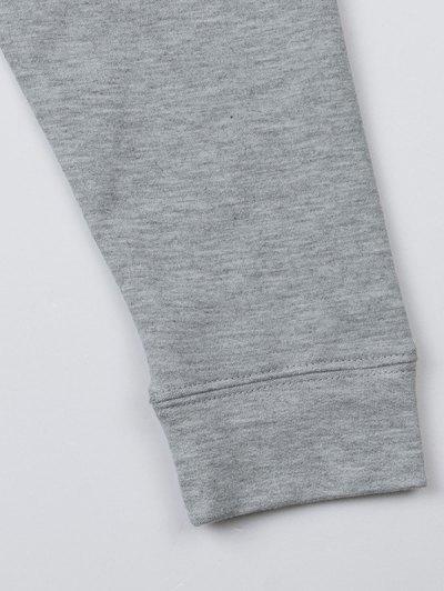 Basic Raglan Sweatshirt - GRAY L Mobile