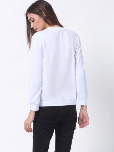 Polka Dot Sweatshirt - WHITE S Mobile