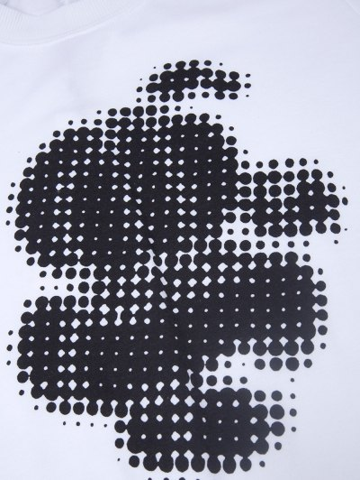 Polka Dot Sweatshirt - WHITE XS Mobile