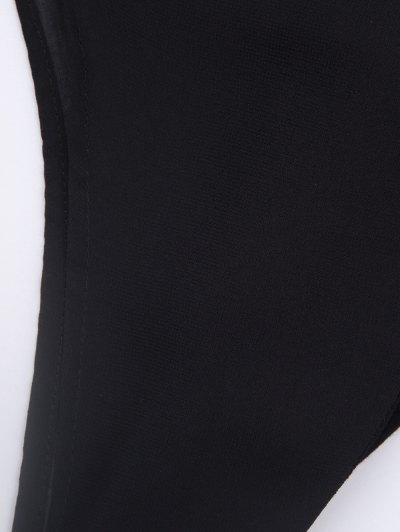 Plunging Neck Layered Bodysuit - BLACK XL Mobile