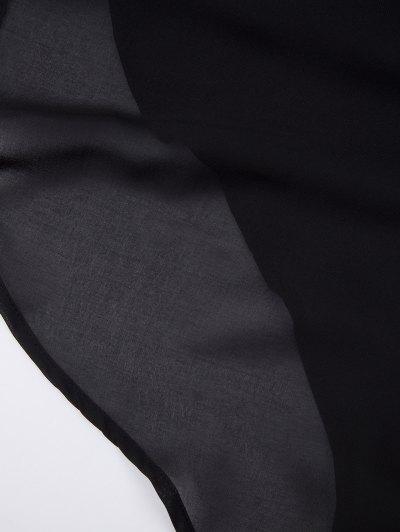 Plunging Neck Layered Bodysuit - BLACK S Mobile