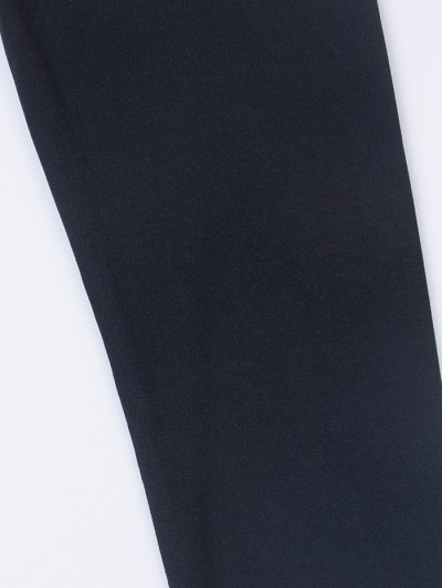 Fitted Long Sleeve Plunge Bodysuit - BLACK M Mobile