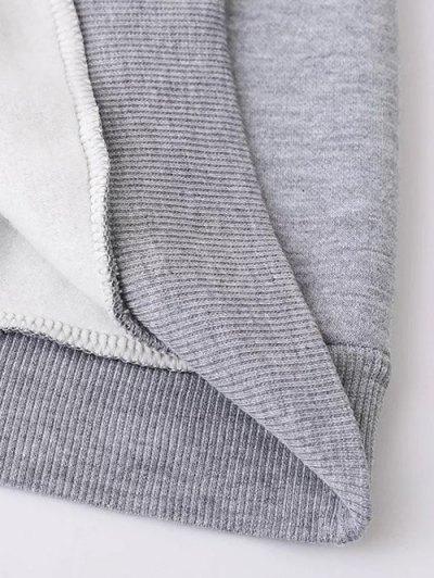 Fleece Lined Glasses Graphic Sweatshirt - BLACK L Mobile