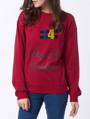 Days Till Christmas Sweatshirt - Red